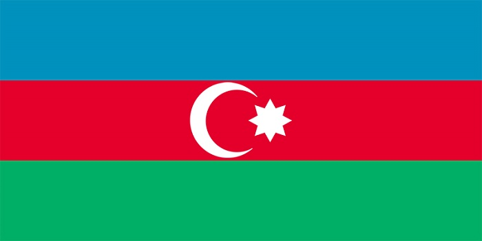 NIDOE AZERBAIJAN - The Flag of AZERBAIJAN